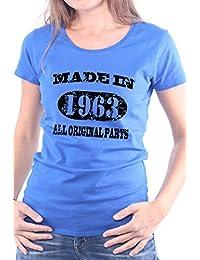 Mister Merchandise Femme Chemise T-Shirt Made in 1963 All Original Parts Years Jahre Geburtstag