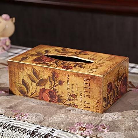 qwer Creative una scatola di legno è in American antichi ornamenti in stile Europeo di soggiorno ammobiliato tirare il tavolo accessori , lunga scatola di carta