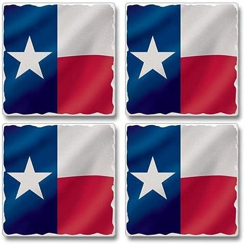 Texas Flag Asst. Coasters 3.6 Sq. x .3 d by Highland Graphics