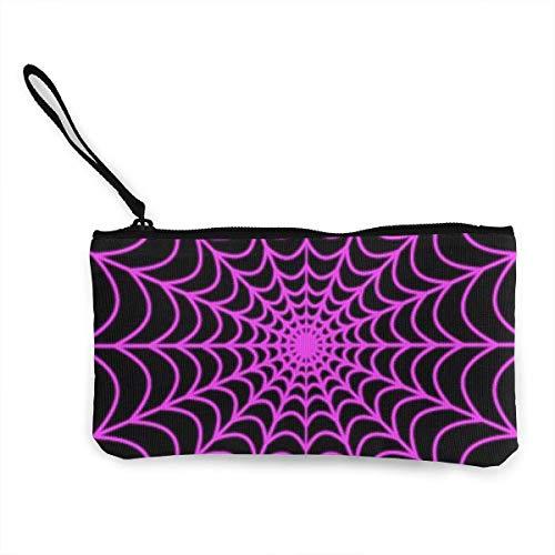 shuangshao liu Halloween Spider Web Tote Shopping Bag for Women Coin Purse Wallet Bag Makeup Bag Pencil Bag for Litter Girls Student