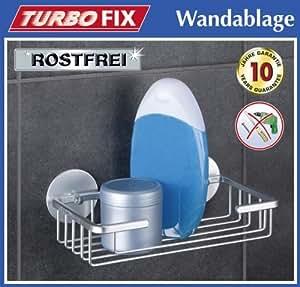 Wenko turbofix badablage aluminium ohne bohren for Badablage ohne bohren