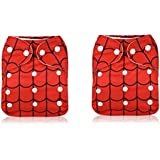 EKRON (Pack Of 2 With 2 Liners) New Adjustable (for All Sizes) Reusable Lot Baby Washable Cloth Diaper Nappies For Babies Of Ages 0 To 2 Years, Red