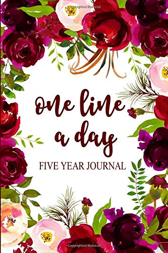Burgundy Rose Blush (One Line a Day Five Year Journal: Marsala, Burgundy, and Blush Watercolor Roses 6