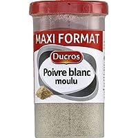 Ducros Boite menagere poivre blanc moulu Le pot de 90g - Prix Unitaire - Livraison Gratuit Sous 3 Jours