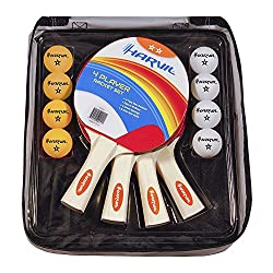 Harvil 4-Player Table Tennis Racket Set