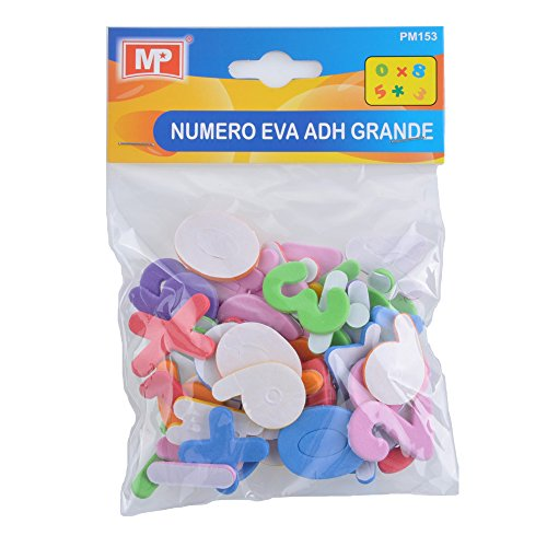 MP PM153 - Ensemble de lettres adhésives en mousse EVA dans un emballage blister