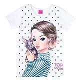 Top Model Mädchen T-Shirt, weiß, Größe 140, 10 Jahre