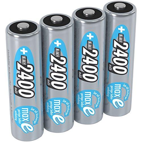 ANSMANN Akku AA 1,2V 2400mAh - Wiederaufladbare Batterien AA Mignon NiMH mit maxE Technologie für Geräte mit hohem Stromverbrauch - Akkus AA ideal als Wii & Xbox Controller Akku uvm - 4 Stück