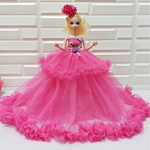 Hochzeitskleid Ausländische Puppe Kleines Mädchen Spielzeug Geschenk Boutique Mode Loli Prinzessin Dress Up Puppe Festival Geburtstag, Red ()
