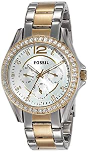 (Renewed) Fossil Riley Analog Silver Dial Women's Watch - ES3204#CR