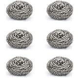 Cello Stainless Steel Kleeno Scrub Pad (Silver, Set of 6)