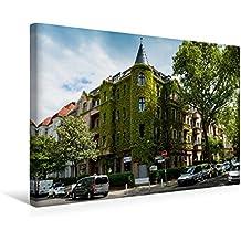 Calvendo Premium Textil-Leinwand 45 cm x 30 cm Quer, Eckhaus (Steglitz) | Wandbild, Bild auf Keilrahmen, Fertigbild auf Echter Leinwand, Leinwanddruck Orte Orte
