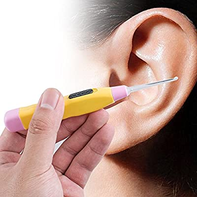 Risingmed Lighted Tonsil Ear Stone Remover Tool LED Light + 3 Adapters Home Use ,Ear Cleaning Tool with Light,Earpick with Flashlight Ear Care Products
