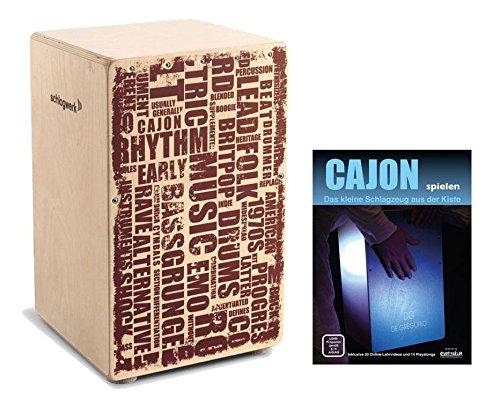 """Schlagwerk CP 130 Cajon X-One""""Styles"""" SET inkl. Cajonschule (Trommelkiste, Percussion, Kistentrommel, Material: Birke, inkl. Noten)"""
