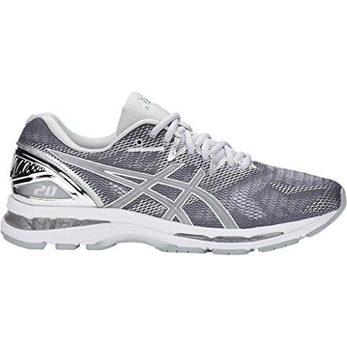 Asics Gel-Nimbus 20 Platinum, Zapatillas de Running para Hombre, Multicolor (Carbon/Silver/White 9793), 43.5 EU
