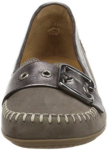 Gabor Ascari, Mocassins (loafers) femme Marron - Brown (Brown Nubuck/Anthrazite Met Leather)