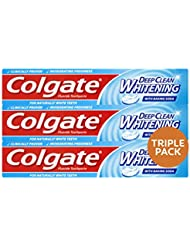 Colgate Advanced Deep Clean Whitening Toothpaste, 3 x 75 ml