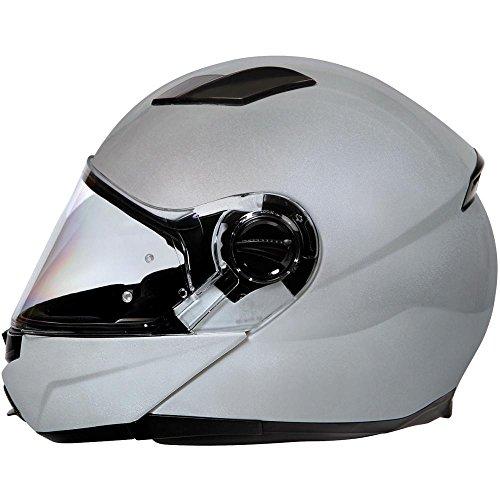 koji - Plasma, casco modulare - Argento - L