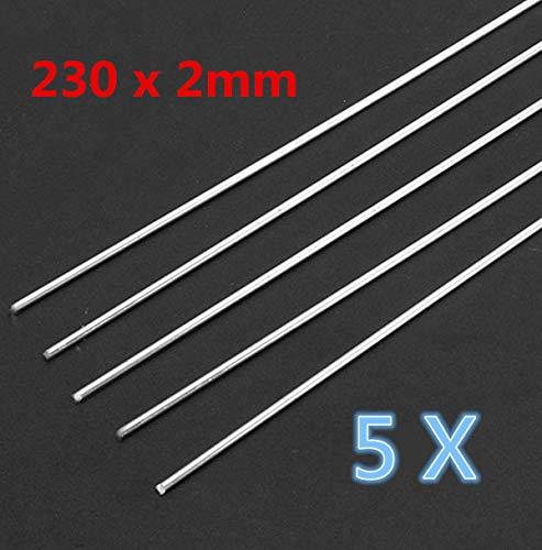 Kamas Schweißstäbe für Aluminium/Gas/Argon Bogenschweißzubehör, 230 x 2 mm, 5 Stück -