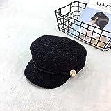BYLLZZ Boina Dama Corea Nudo Mariposa de otoño e Invierno de Calabaza Japonesa Hat con Lana Moda Pintor Hat