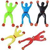 MMRM Divertido de la novedad pared pegajoso tirón Escalada Rollin hombres escalador de juguete para niños