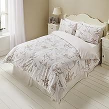 paris romantique love hearts script papillon lit housse de couette motif floral 50 coton - Housse De Couette Romantique Rose