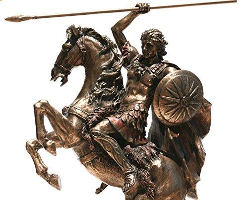 Alexander der Große auf Pferd Griechisch King Warrior Statue Skulptur Figur Bronze Finish 12,4