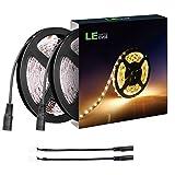 LE 2er 5m LED Streifen, 12V DC warmweiß strip, LED Lichtband Leisten, Lichtleisten Band