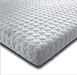 4FT SMALL DOUBLE MEMORY FOAM AND REFLEX 5 ZONE MATTRESS MICRO QUILTED EXCLUSIVE COVER BEDZONLINE AND TAPE EDGED 1 SIDE UK MANUFACTURED 2 X FREE FIBRE PILLOWS