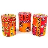 Nobunto Set Of Three Boxed Hand-Painted Candles - Zahabu Design