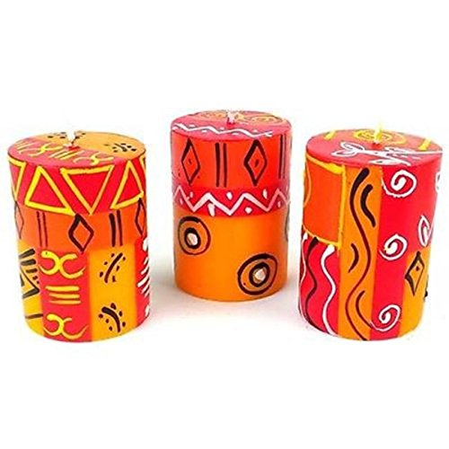 Nobunto Set Of Three Boxed Hand-Painted Candles - Zahabu Design