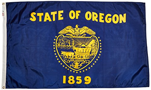 Valley Forge Nylon Oregon State Flagge, Nylon, Oregon, 3-Feet by 5-Feet -