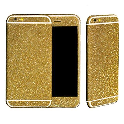 Fashion Dreams Mall (TM) Bling lucido autoadesivo pellicola Stikers Case-Custodia di protezione per corpo completo per Apple iphone 6 oro