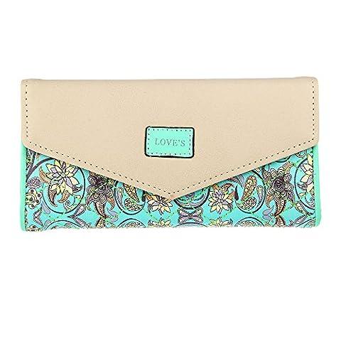 Lureme femmes Envelope Leather Wallet Card Holder Clutch Longue Purse (wt000010-3)