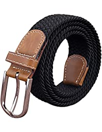 Sanwood Unisex Canvas Plain Metal Buckle Waist Belt Strap
