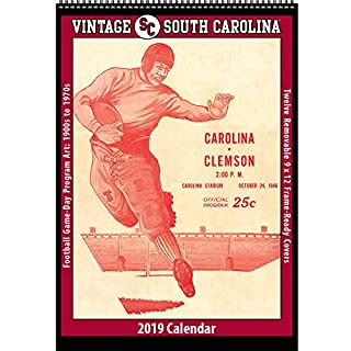 Vintage South Carolina Gamecocks 2019 College Football Calendar