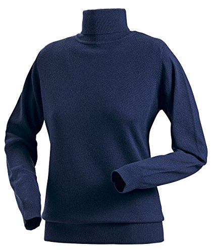 Royal Spencer Damen Rollkragen-Pullover aus Kaschmir-Seide, Kaschmir-Pullover in Dunkelblau, kuscheliger Winterpullover, feines Naturprodukt , Gr: S - XL (Blau Kaschmir Royal)