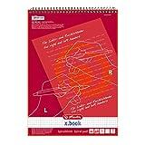 Herlitz 11325842-Cuaderno para ambidiestros, zurdos y diestros, A4, línea 28 (cuadriculado con 2márgenes), 80hojas, 5unidades