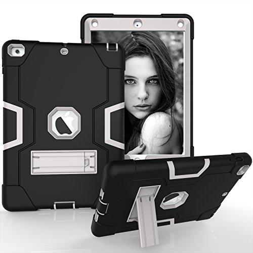 iPad Air Fall, iPad 5Case, beimu 3in1Combo Hybrid Heavy Duty Armor Fullbody Holster Rugged Defender Schutzhülle mit Integriertem Ständer für Apple iPad 5/iPad Air Schwarz/Grau Samsung Slim Combo
