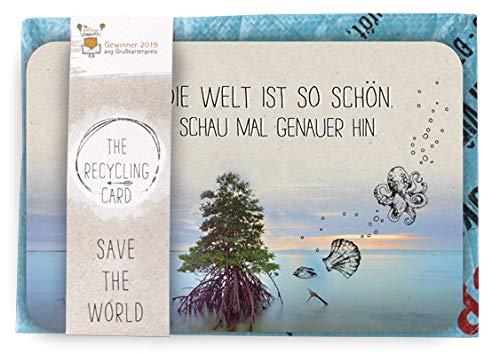 arte A5 mit Umschlag | Schöne Spruchkarte im Set | Postkarte mit Recycling Dauerumschlag | Karte für viele Angelegenheit | Rückseite farbig bedruckt | DIN A 5 | Motiv: Baum ()