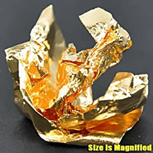 Ultra mince feuille d'aluminium pour la décoration des ongles (Or) CODE: # 87G