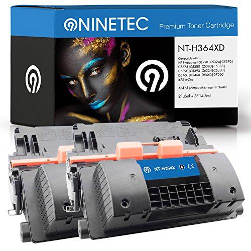 Doppelpack 2X Original NINETEC NT-H364XD Toner-Kartuschen Black kompatibel mit HP CC364X 64X