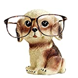 CHICOLY Netter Hund Geformte Resin Brillenhalter, Cartoon Tier Brillenhalter Brillenständer Sonnenbrille Halter Dekoration
