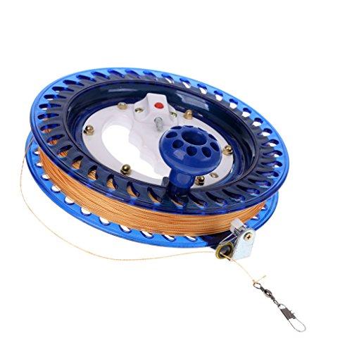 FLAMEER Profi Winder Reel Angelrolle Seilrolle mit Scheibenbremse Schultergurt, aus Metall und Kunststoff