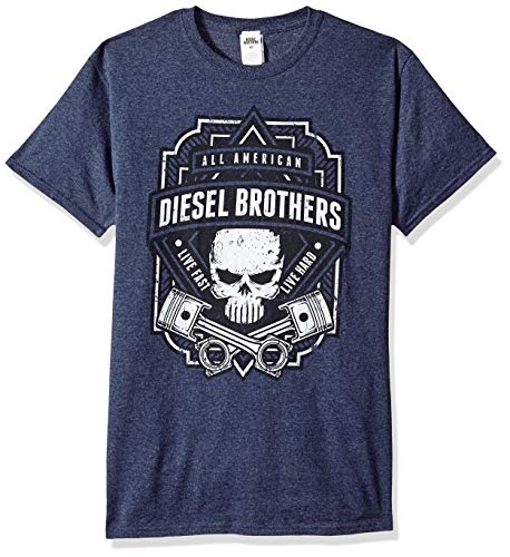 Fifth Sun Herren Officially Licensed Piston Crest Men's Tee T-Shirt, Blue EL, 4X-Groß