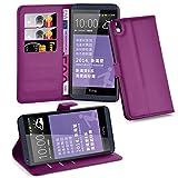 Cadorabo Hülle für HTC Desire 816 Hülle in Mangan Violett Handyhülle mit Kartenfach und Standfunktion Case Cover Schutzhülle Etui Tasche Book Klapp Style Mangan-Violett
