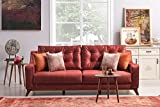 Casa-Padrino Designer 3-Seater Berlin ocher-Red - Hotel Furniture
