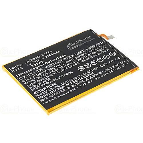 cellePhone Batterie Li-Polymer Compatible avec Archos 55 Helium Ultra (Remplacement pour AC55HE)