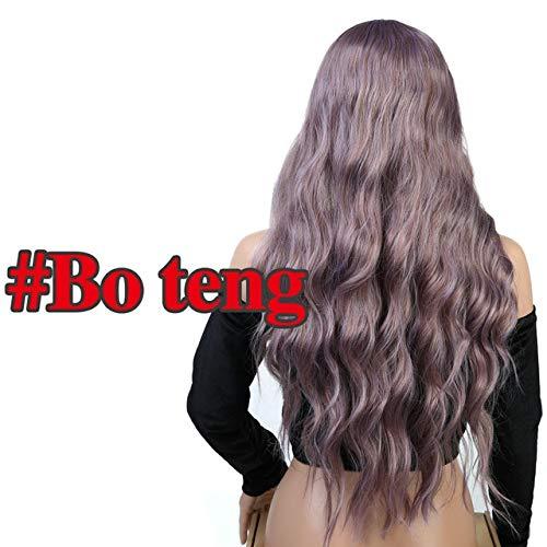 YHSY Gewelltes Haar Langen Stil mit Frauen hitzebeständige synthetische Perücke 26 Zoll BO Teng -