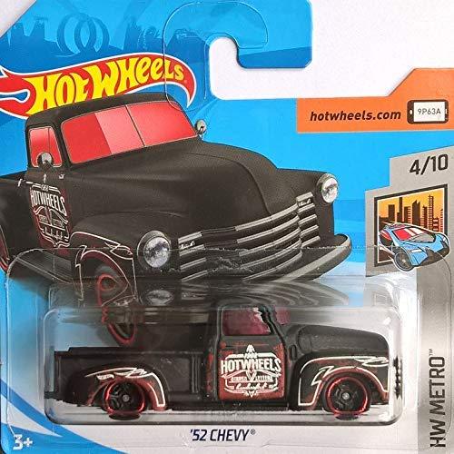 Chevy '52 - Chevrolet Oldtimer Pickup 1952 - 1:64 - Farbe: Black, matt Finish (HW-Serie 4/10 Metro 2018)